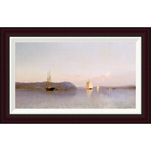 Late Afternoon, Haverstraw Bay by Francis A. Silva Framed Painting Print by Global Gallery