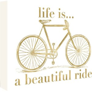 Bicycle Life is Beautiful Ride Graphic Art on Wrapped Canvas by East Urban Home