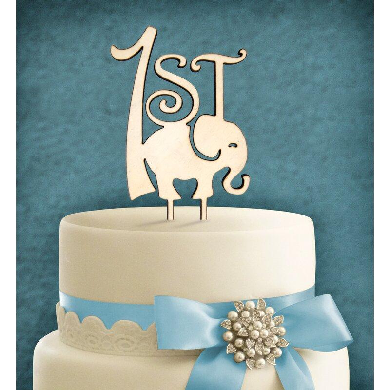 Peachy Amonogramartunlimited 1St Birthday Elephant Cake Topper Wayfair Personalised Birthday Cards Petedlily Jamesorg