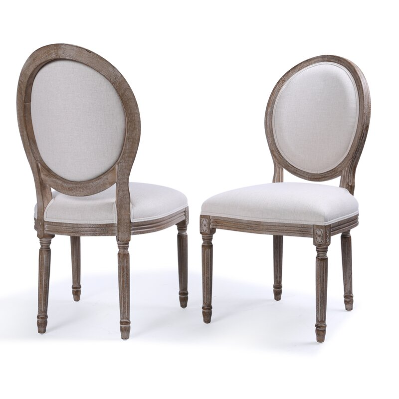 Agda Classic Elegant Traditional Upholstered Dining Chair