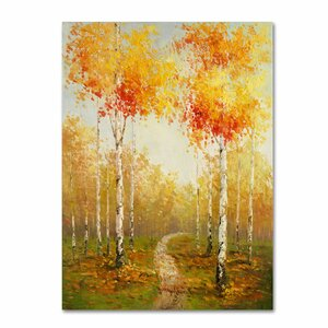'On the Way to Aspen' by Rio Painting Print on Canvas by Trademark Fine Art