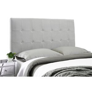 Dublin Contemporary Adjustable Wood Frame Upholstered Panel Headboard by Alcott Hill