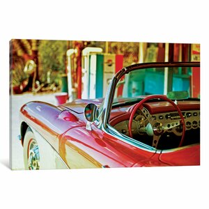 Classic Chevrolet Corvette Photographic Print on Wrapped Canvas by East Urban Home