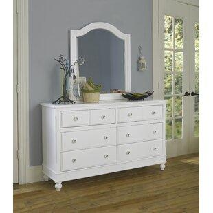 Javin 8 Drawer Double Dresser with Mirror ByHarriet Bee