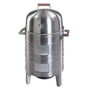 Southern County Stainless Steel Charcoal Smoker