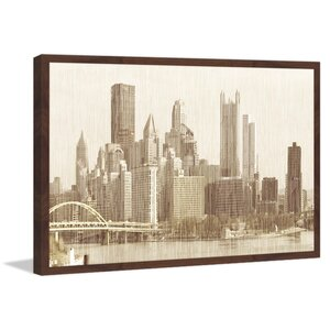 'Pittsburgh Cityscape' Framed Painting Print by Marmont Hill