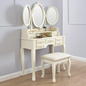 Schminktisch-Set Auguste mit Spiegel von Maison Alouette