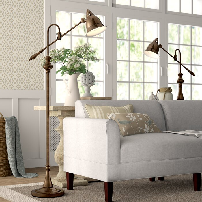 2 Piece Floor And Table Lamp Set