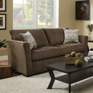 Simmons Upholstery Chestnut Solid Sofa