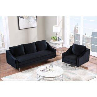 Suus 2 Piece Velvet Living Room Set by Everly Quinn