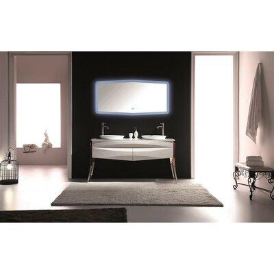 """Modern Bathroom Vanities Double Sink kube bath riso 64"""" double sink modern bathroom vanity & reviews"""