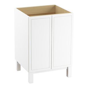 Check Prices Jacquard™ 24 Vanity Base Only with Furniture Legs and 2 Doors By Kohler