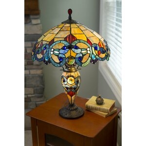 Victorian Tiffany Style Stained Glass Double Lit  26