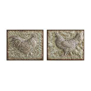 2 Piece Rooster And Hen Wall Décor Set