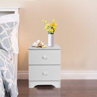 Gbemisola 2 - Drawer Nightstand in White by Ebern Designs