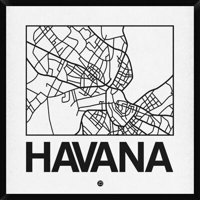 """Canvas Art Print /""""Tropical Map of Cuba/"""""""