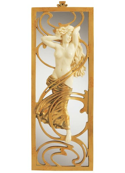 Art Deco Wall Mirror design toscano parisian art nouveau wall mirror & reviews | wayfair