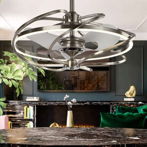 Bucholz Modern 3 Blade LED Ceiling Fan with Remote