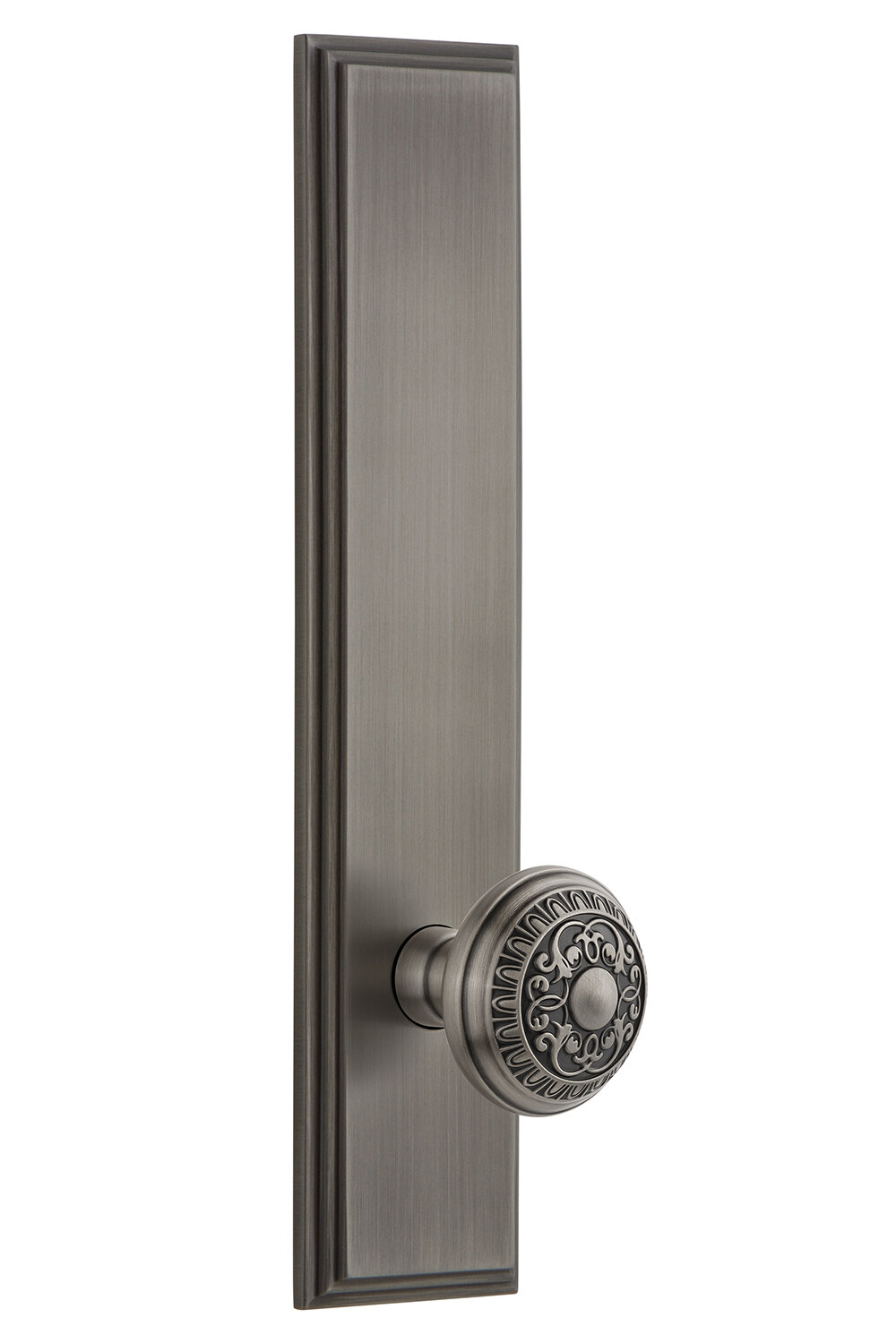 Grandeur Windsor Privacy Door Knob With Carre Plate Wayfair
