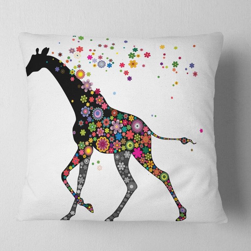 3D Rose Fun Okapi Watercolor Type Art Original Pillow Case 16 x 16