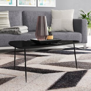 Athanas Small Coffee Table with Marble and Iron Legs