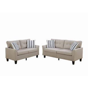 2 Piece Sofa Set In Charcoal by Latitude Run®