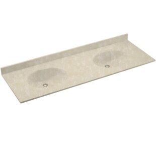 Look for Chesapeake Solid Surface 73 Double Bathroom Vanity Top BySwan