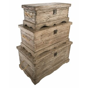 3-tlg. Holztruhen-Set Anglia von Hazelwood Home