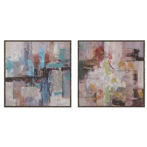 Mood Swing 2 Piece Framed Painting Print Set by Mercury Row