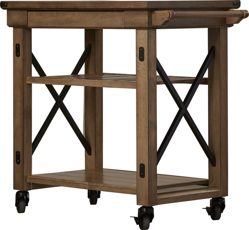 Gladstone Kitchen Island with Wooden Top #kitchendesign #island #mobile