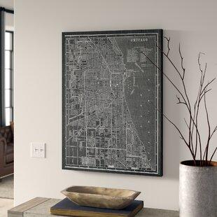Vintage Chicago Map | Wayfair