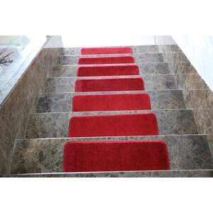 Red Stair Tread (Set of 7)