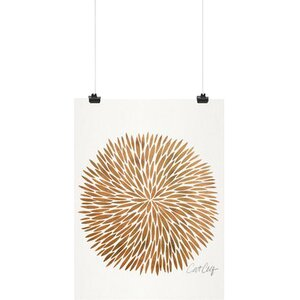 'Rose Gold Burst' Print by East Urban Home