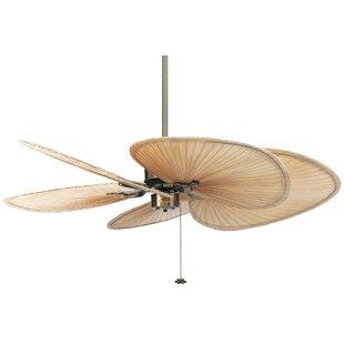Antique brass ceiling fans youll love wayfair 52 islander 5 blade ceiling fan aloadofball Gallery