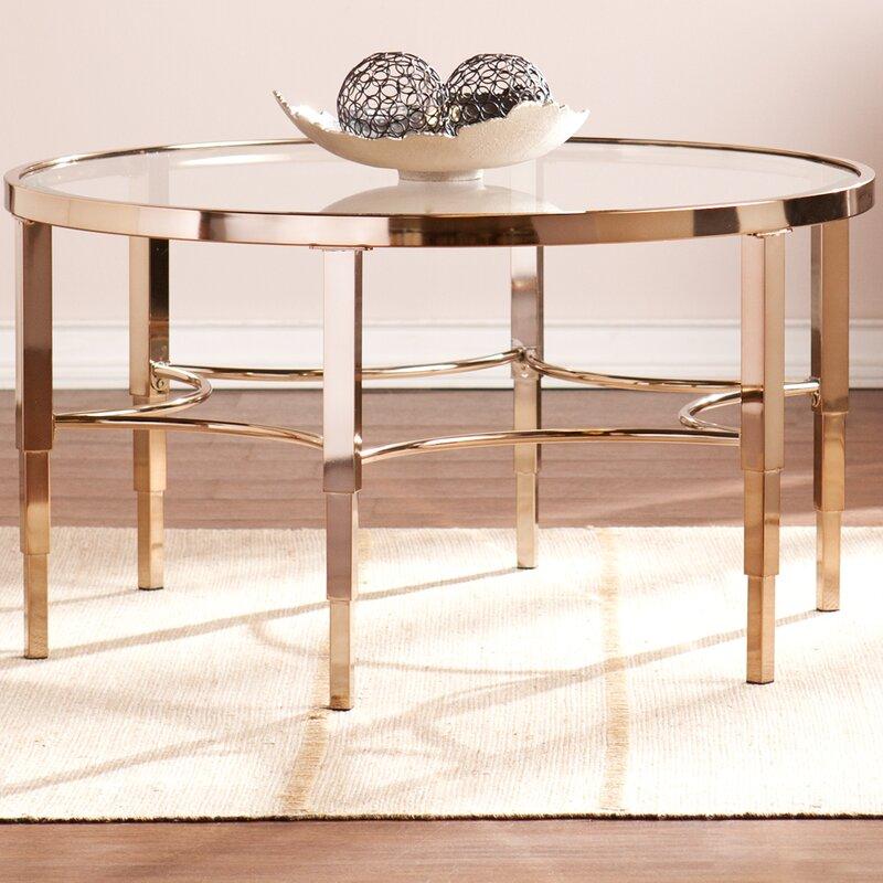 Jaidan Metallic Gold Coffee Table