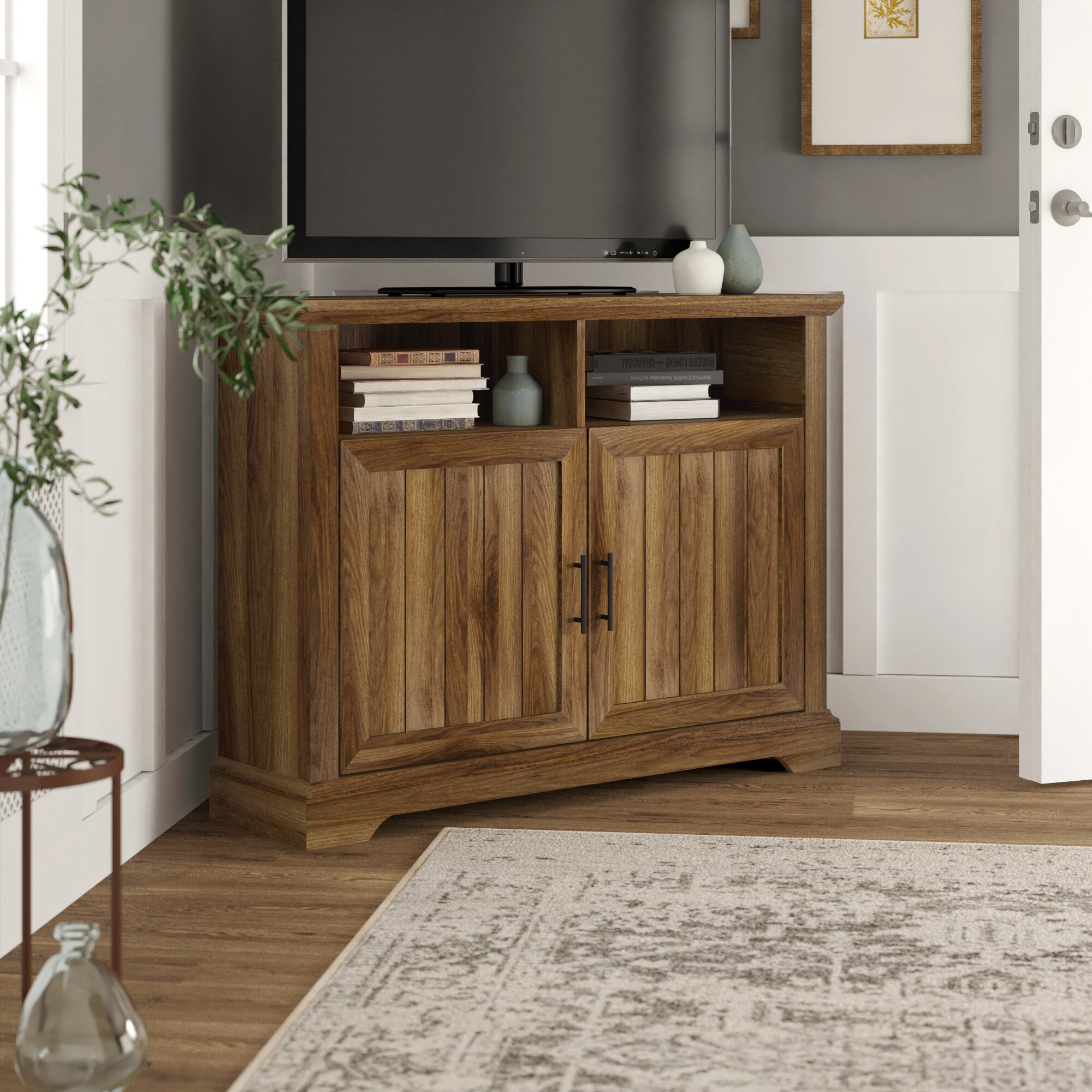"""Home Staging Meuble Tv tomball corner tv stand for tvs up to 50"""""""