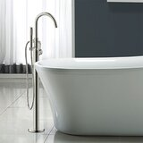 Euro Single Handle Floor Mounted Freestanding Tub Filler by Ultra Faucets