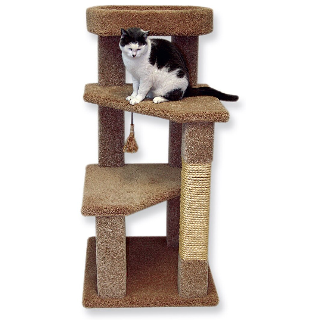 Beatrisepetproducts 46 Kitty Villa Cat Tree Reviews Wayfair