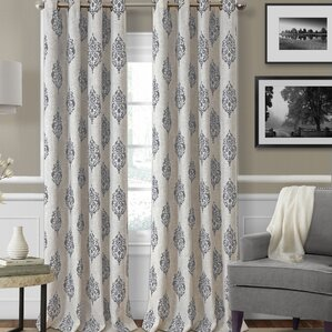 Navara Ikat Blackout Thermal Grommet Single Curtain Panel