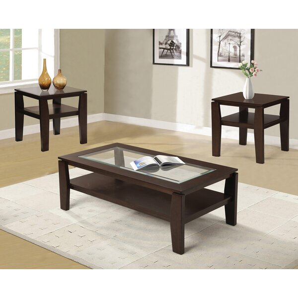 red barrel studio golder 3 piece coffee table set & reviews | wayfair