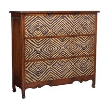 Bonnells Carved Mahogany 3 Drawer Accent Chest by World Menagerie