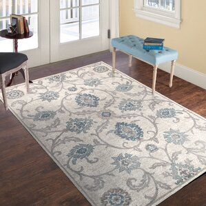 Ivory/Brown Area Rug