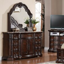 Edington 9 Drawer Combo Dresser with Mirror by Samuel Lawrence
