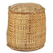 Round Woven Ottoman by Ibolili