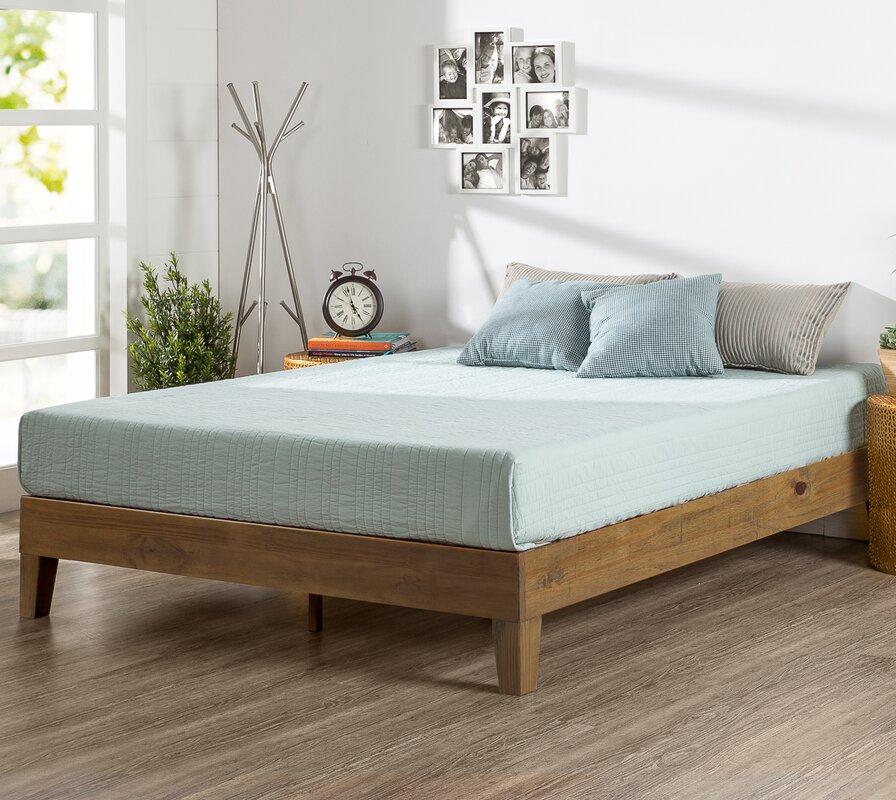 alwyn home wood platform bed & reviews   wayfair