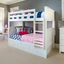 Bunk Bed with Trundle Storage by Jackpot!