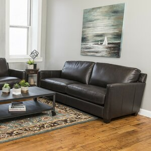 Fifth Street Leather Loveseat by Red Barrel Studio