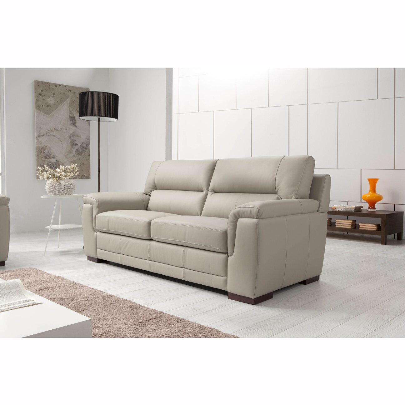 Albany brown leather sofa refil sofa for Albany sahara sectional sofa chaise