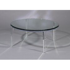 Angelo Coffee Table with Glass Top by Shahrooz