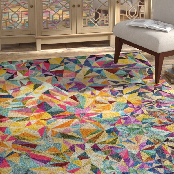 Aquarius Yellow/Blue Area Rug by Bungalow Rose